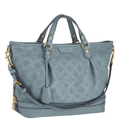 路易 图案/Louis Vuitton浅蓝色STELLAR PM经典镂空图案两用手袋
