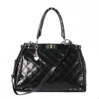 黑色/玖熙黑色复古两用手提包