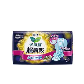 花王乐而雅超瞬吸夜用卫生巾40cm